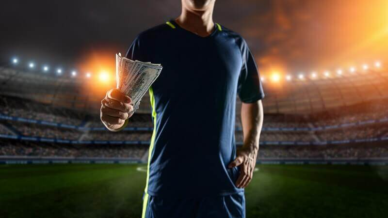 Football players lavish spending