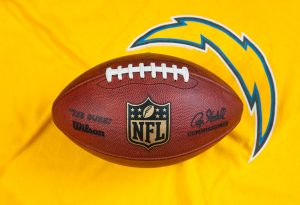 Chargers Logo with NFL Football